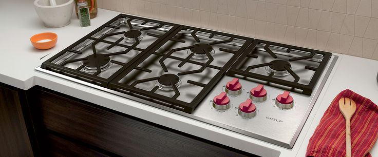 914mm Professional Gas Cooktop | Gas Cooktops | Wolf