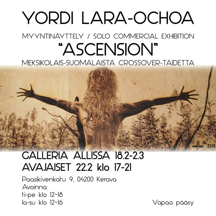 "Yordi Lara-Ochoa Invitation Exhibition ""Ascension"" 2014 Finland white"