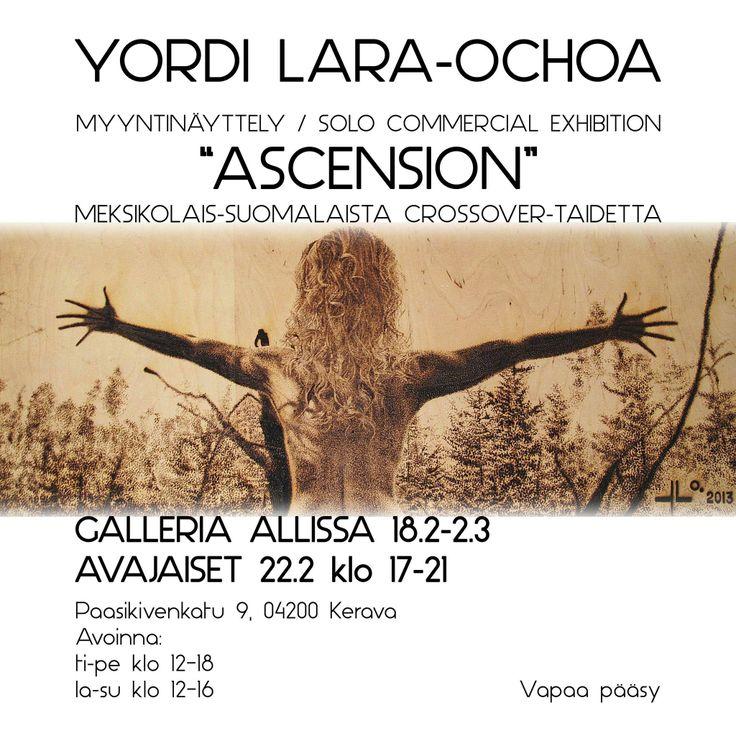 """Yordi Lara-Ochoa Invitation Exhibition """"Ascension"""" 2014 Finland white"""
