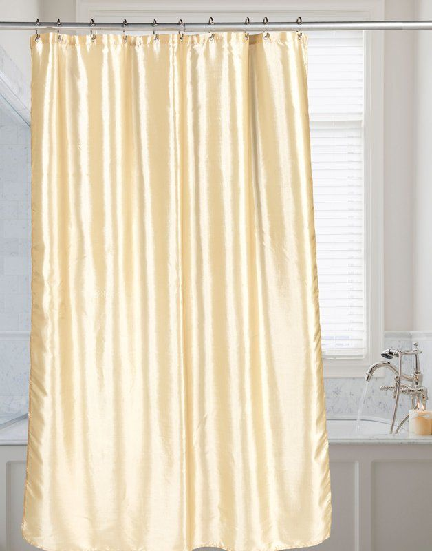 Malloy Shimmer Faux Silk Shower Curtain House Styles Curtains