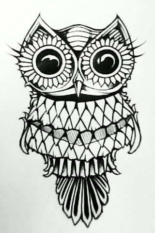 An original. One of the coolest owl drawings I have ever seen ever!!! Like, Comment, Repin !!