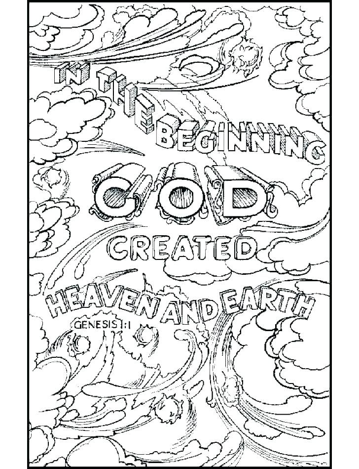 Creation Coloring Pages Bible Verse Coloring Page Creation