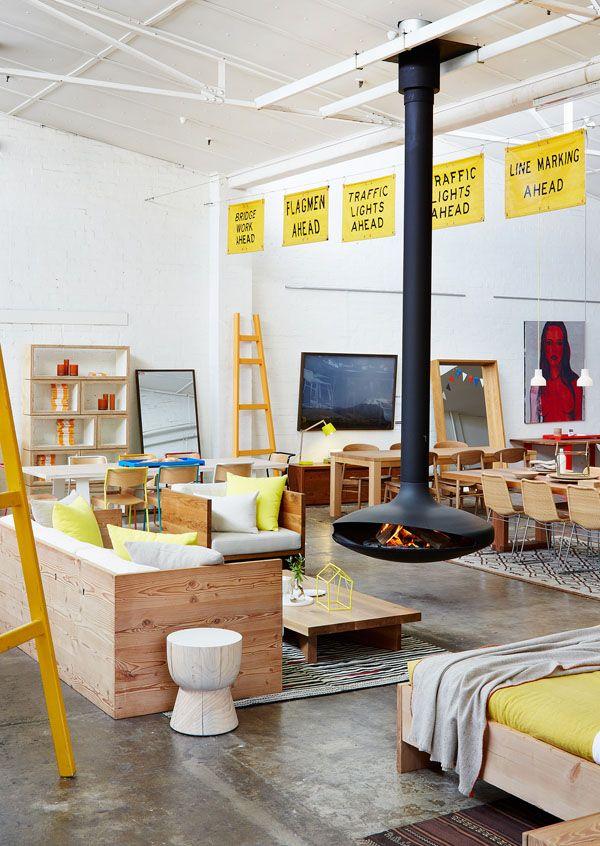 Mark Tuckey's beautiful store in Fitzroy, Melbourne. Styling – Louella Tuckey, photo – Lucas Allen.
