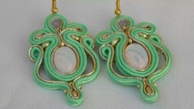 nice green earrings