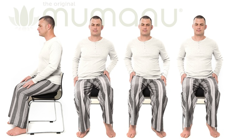 You can even use the Mumanu pillow like a swiss ball. Sit on it mostly deflated and you can rock your pelvis from side to side to keep your spine mobile. www.mumanu.com
