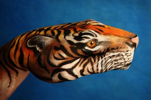 Hand Painting by artist Guido Daniele. SO COOL! IAD lesson http://www.princetonol.com/groups/iad/Files/Jan-handcamouflage.htm