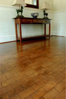 end grain wood flooring. Really lovin' these!