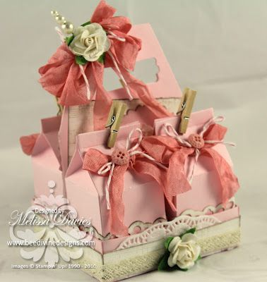 Shabby Chic Milk carton carrier by scrappedon - Cards and Paper Crafts at Splitcoaststampers