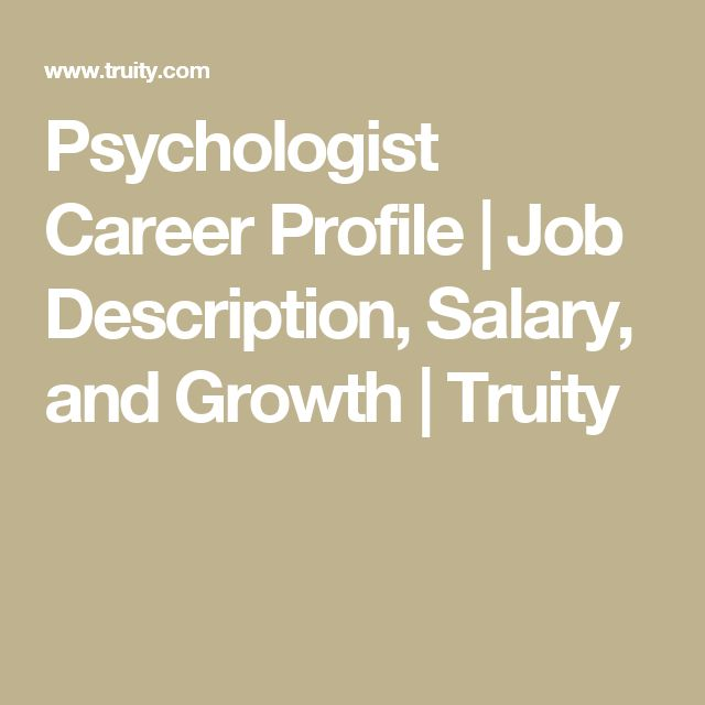 Best 25+ Psychologist job description ideas on Pinterest It