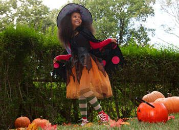 Homemade Witch Costume - Halloween Costumes for Girls - Kaboose.com