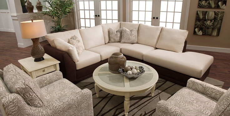 Sectional and accent chairs. Take me to the Coast!
