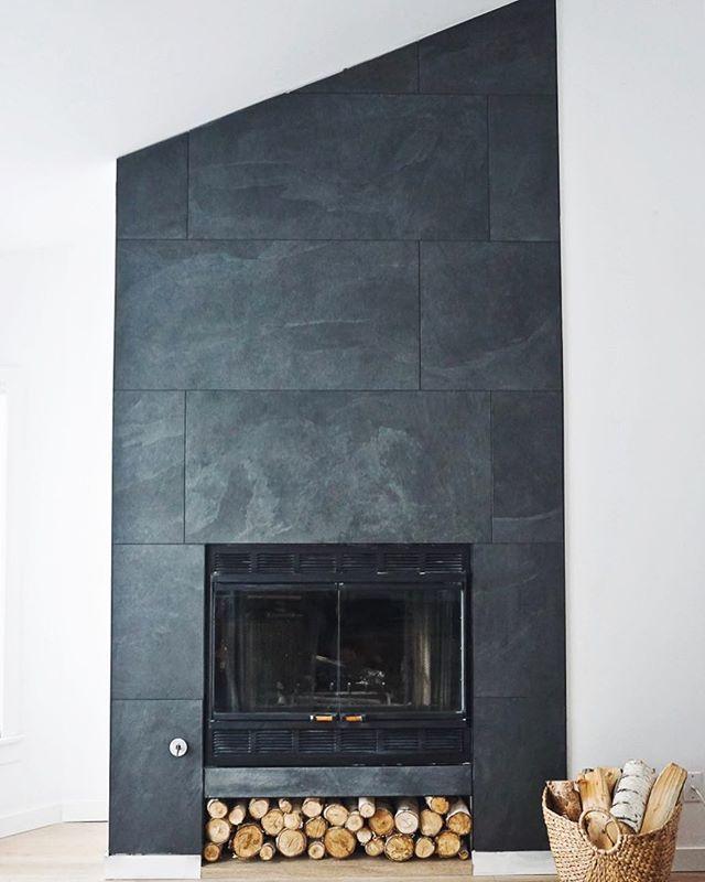 Best 25+ Slate fireplace ideas on Pinterest