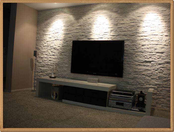 tv arkası doğal taş kaplama