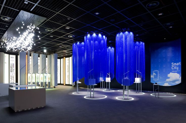 Kaynemaile Architectural Mesh Custom Pods produced for Samsung's Flagship Showroom in Korea