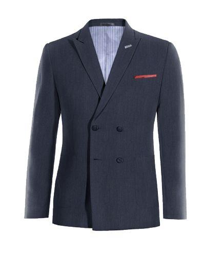 Blue double breasted linen Blazer - http://www.tailor4less.com/en-us/men/blazers/3275-blue-double-breasted-linen-blazer