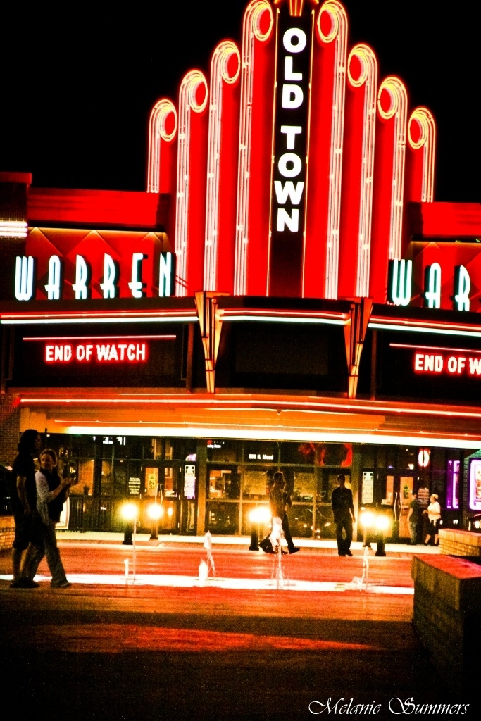 The Old Town Warren Theater - Wichita, KS serves you dinner and beer while you watch the newest movie on their luxury big screen.