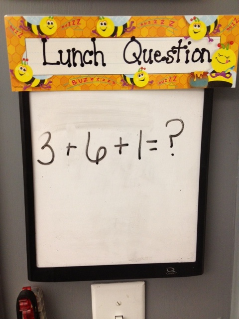 Good for Elementary: Exit Ticket  I like this because it challenges the students brains to see how much they remember after Math has been taught. I will not write a math problem on the board because it will give other students time to figure out the answer. I will have  differnent math problems on flash cards.