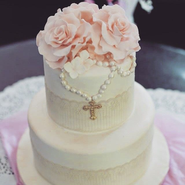 First communion cake by Let Them Eat Cakes