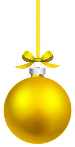Yellow Hanging Christmas Ball PNG Clipart The Best PNG Clipart - ClipartPNG.com