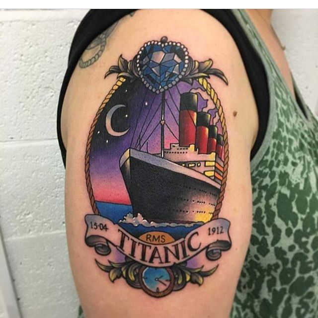 #Titanic #titanictattoos #meetmeattheclock #makeitcount #heartoftheocean…