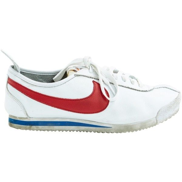 Pre-owned Nike Cortez Leather Low Trainers (€99) ❤ liked on Polyvore featuring men's fashion, men's shoes, men's sneakers, white, nike mens sneakers, mens leather sneakers, men's low top shoes, mens white shoes and nike mens shoes