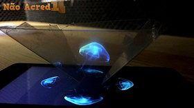 Fazer aparecer um holograma com o telemóvel e folha de acetato! :)