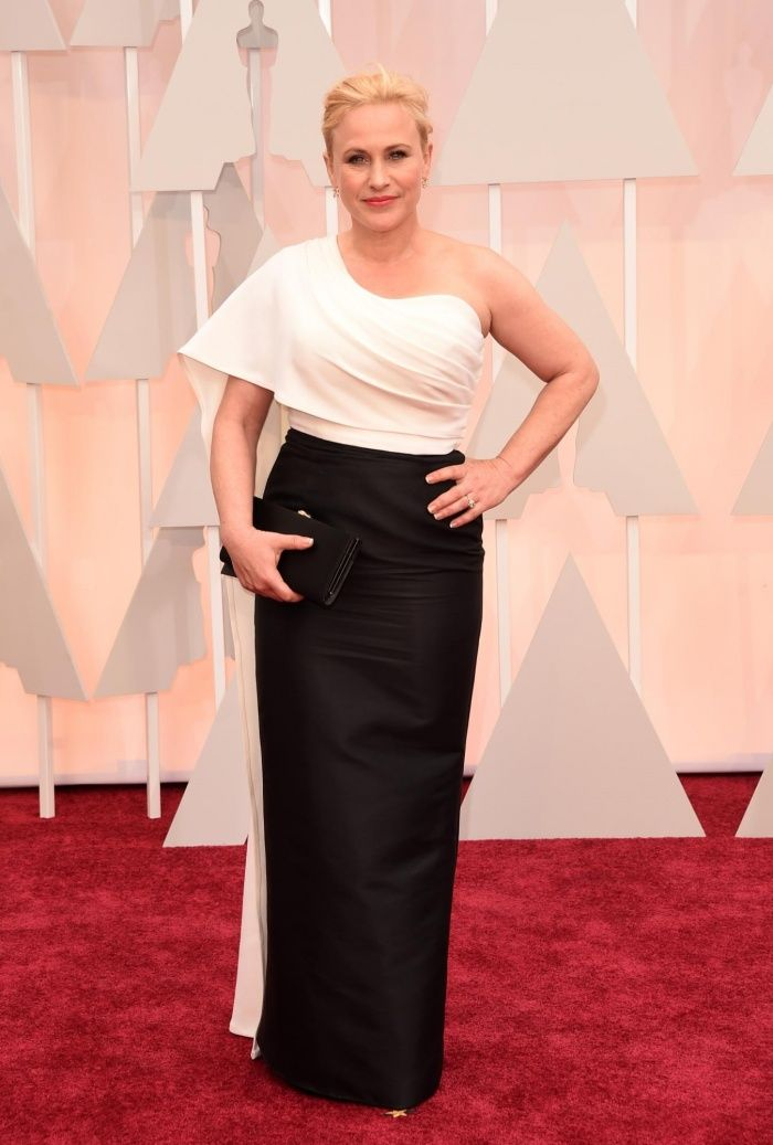No speech necessary. Patricia Arquette makes a statement in #black and #white without saying a word.
