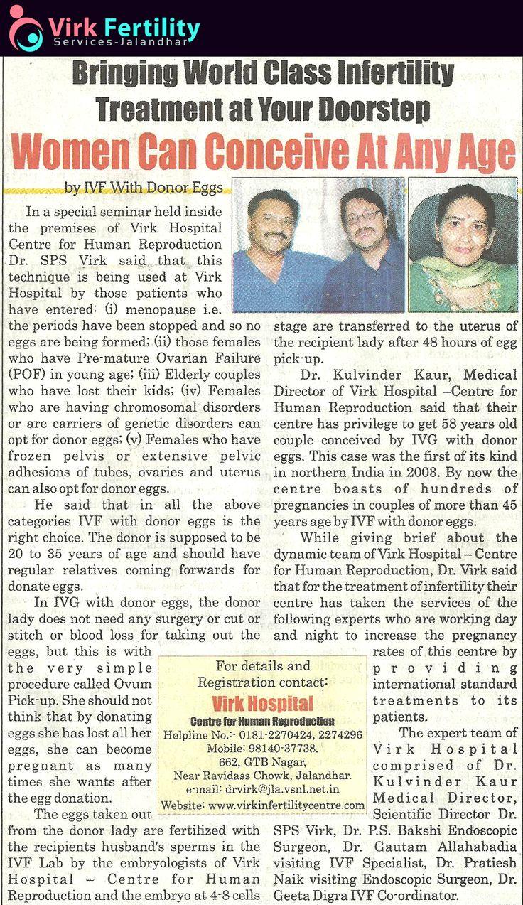 #PressRelease - www.virkinfertilitycentre.com - ivf icsi ivf in punjab ivf in india  ivf treatment