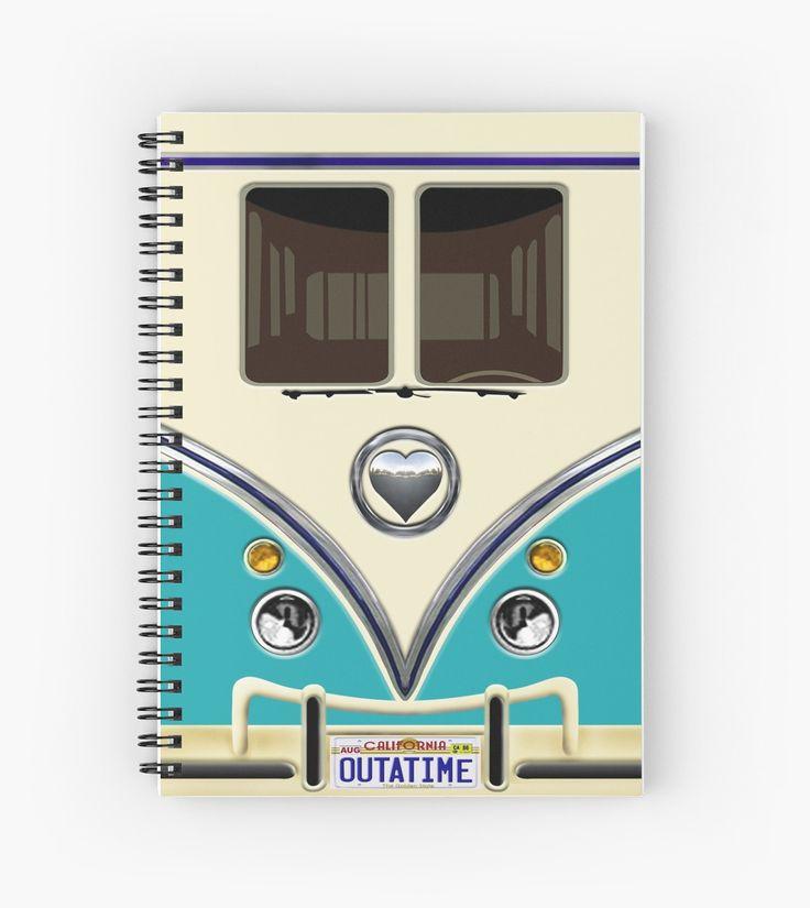 kawaii Blue teal love bug mini bus Spiral Notebooks @pointsalestore #SpiralNotebooks #book #funny #cute #fun #lol #veedub #golf #kombi #minivan #minibus #beetle #bus #camper #retro #splitwindow #van #vintage #bumper #car #lovecar #offroad #campercar #microbus #pickup #transporter