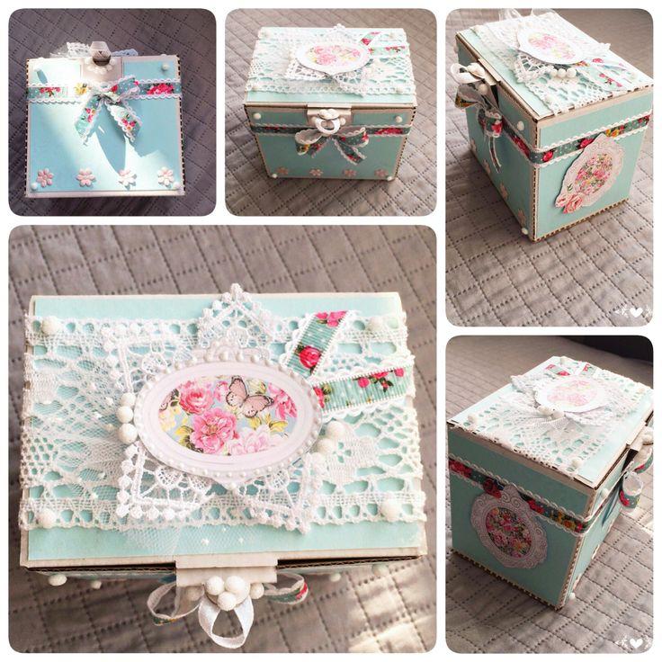 Pudełko dla dziewczynki box for girl @kastelofart