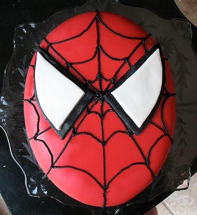 Spiderman Cake and Homemade Marshmallow Fondant | Amanda's Cookin'