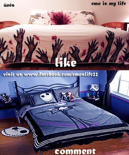 71 best dream bedroom house images on pinterest for the for Bedroom ideas emo