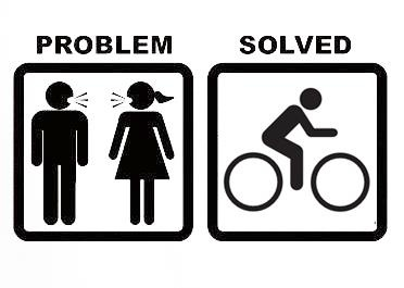 Problem Solved (except I'm the one on bike)