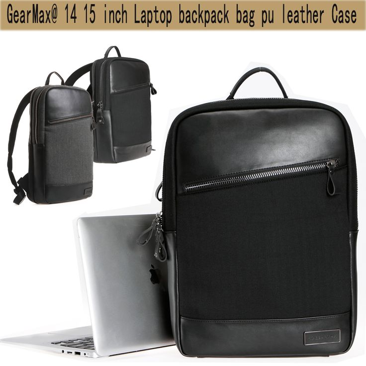 Hight Quality Laptop bag 14 15 inch Notebook Bag Women Men PU Leather Laptop Backpack Bolsa Mochila School Rucksack Minimalist