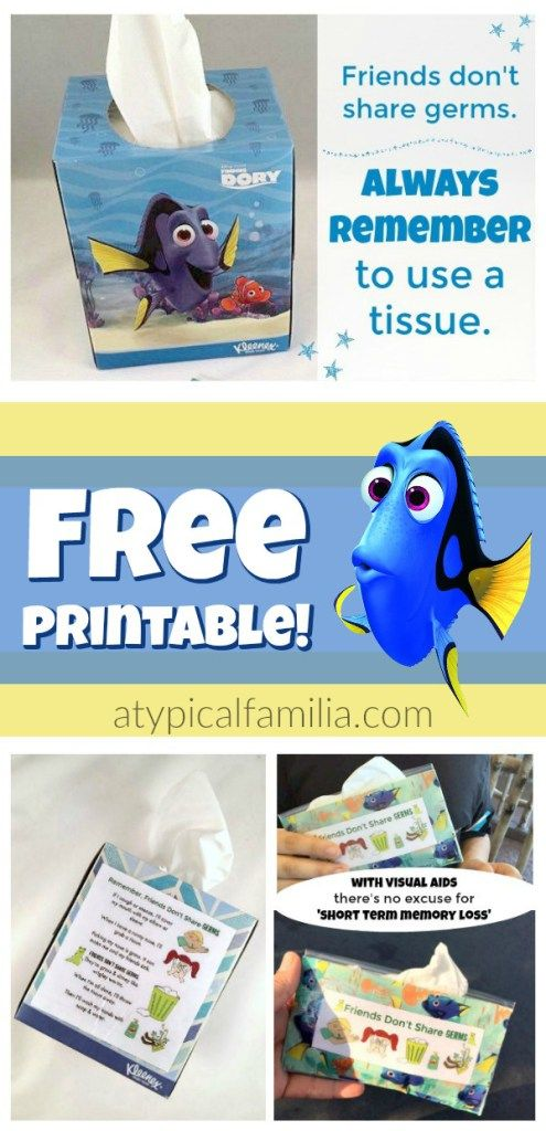 Free Printable Visual Aid for Using Tissues and Blowing Your Nose for Kids with autism via Atypical Familia by Lisa Quinones Fontanez #FamiliaMovieWithKleenex #ad