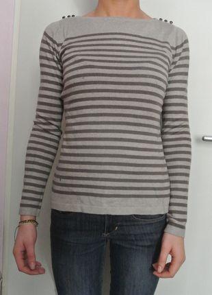 A vendre sur #vinted ! http://www.vinted.fr/femme/pull-overs/13840540-pull-camaieu-beige-avec-rayures-kaki