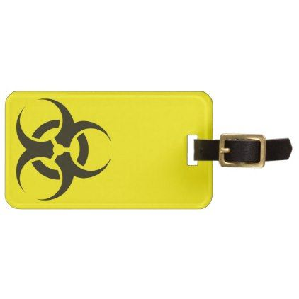 #Biological Hazard Luggage Tag - #travel #accessories