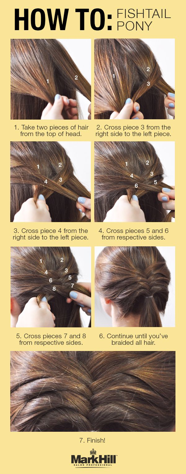 Step up your simple pony for a glamorous look all day with this fishtail braid tutorial!