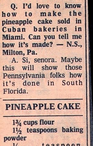 Recipes for crushed pineapple cake