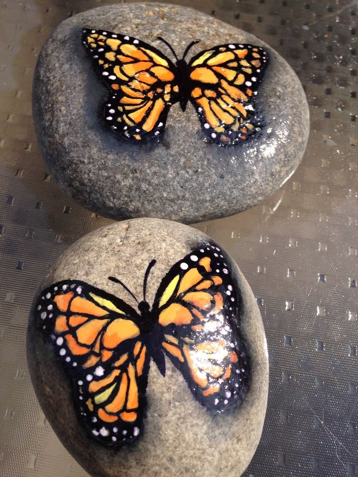 Hand painted Rocks by Christine Purdy