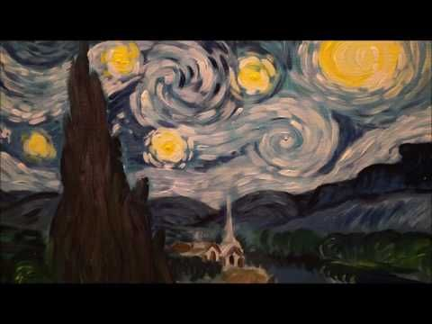 Видео мастер-класс: пишем картину Ван Гога «Звездная ночь» - Ярмарка Мастеров - ручная работа, handmade