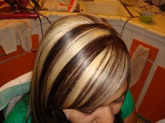 Multi Hair Color Styles: Multi Colored Chunky Highlights