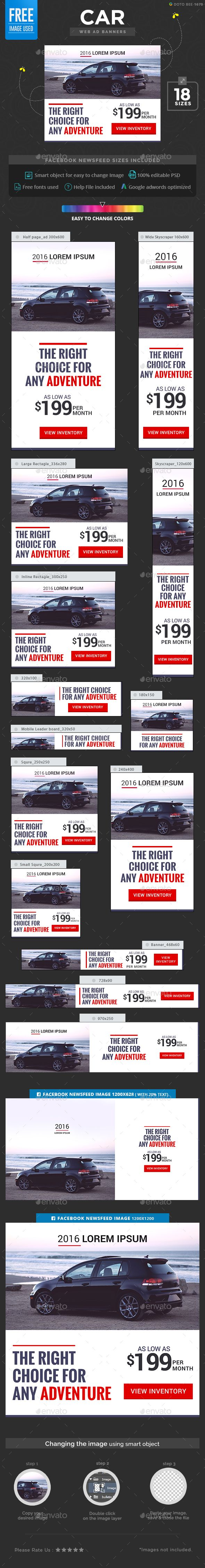 Car Ad Banners - Banners & Ads Web Elements Download here : https://graphicriver.net/item/car-ad-banners/17812813?s_rank=204&ref=Al-fatih