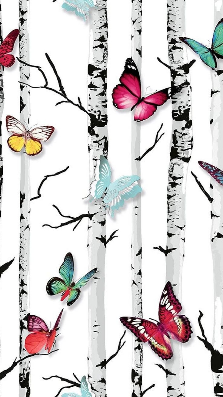 Cute Butterfly iPhone 7 Wallpaper in 2020 (With images ...