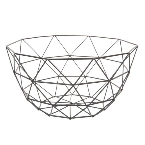 GRAPHIQUE metal bowl in black D 27cm