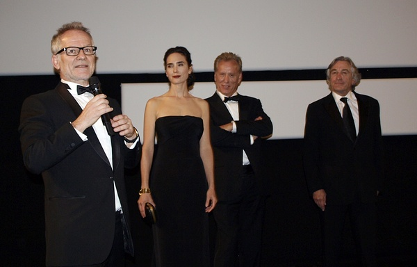 Jennifer Connelly, James Woods & Robert De Niro at Cannes 2012 for Leone screening of Once Upon a Time in America.