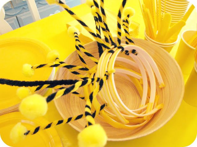 Head Bands My House Of Giggles A Yellow Bumble Bee Birthday Party