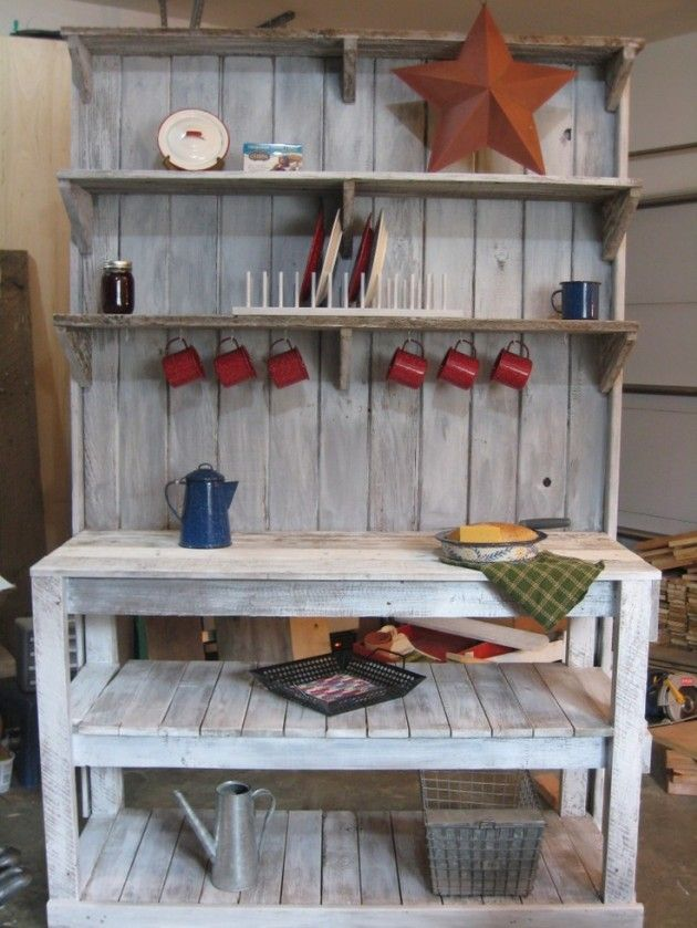 25 Cool DIY Garden Potting Table Ideas, perhaps form pallets
