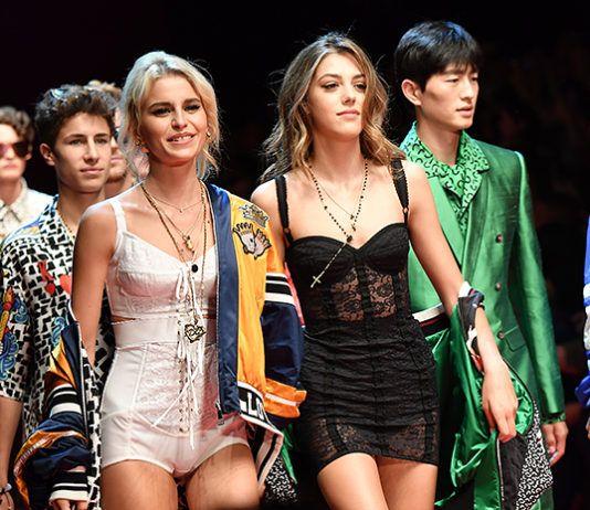 Сын Памелы Андерсон, дочь Сильвестра Сталлоне, сын Синди Кроуфорд и другие на подиуме показа Dolce & Gabbana