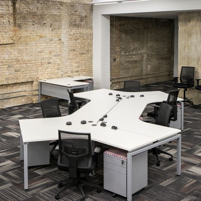 space office furniture. Open Space Desks White Metal Honey Comb Collaborative Desks. Bench Desking Doesn\u0027t Have Office Furniture
